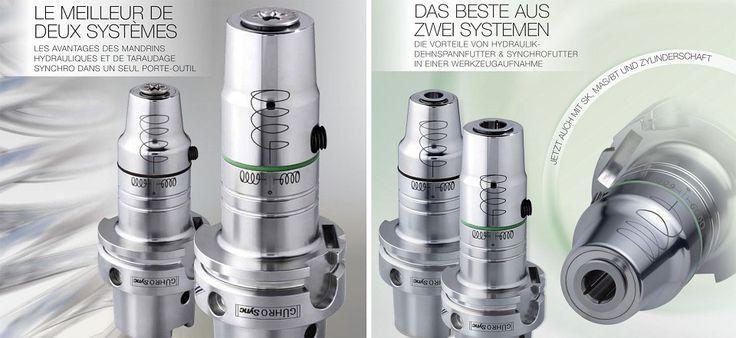 GÜHROSync Le meilleur de deux systèmes - tous les avantages des mandrins hydrauliques et synchro réunis dans un seul système!