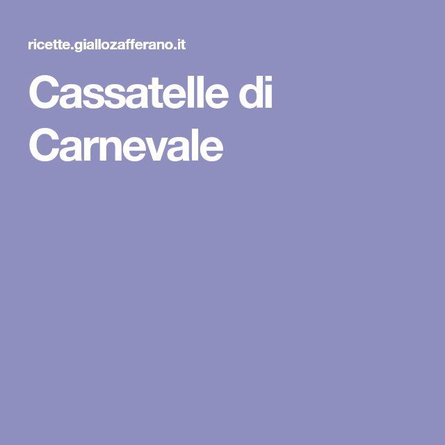 Cassatelle di Carnevale