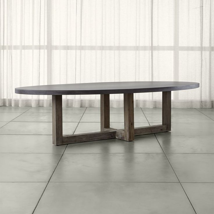 Woodward Oval Dining Table With Solid Wood Base Crate