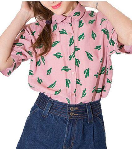 Cactus Collar Shirt