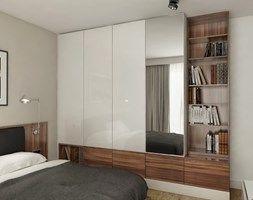INTERIOR | Mieszkanie - Warszawa - Średnia sypialnia małżeńska, styl nowoczesny - zdjęcie od Manufaktura Projektów