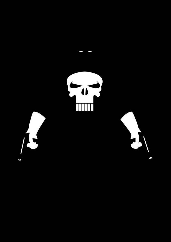 """The Punisher /// """"Super Hero Minimalist Posters"""" poster series /// by Michael Turner"""
