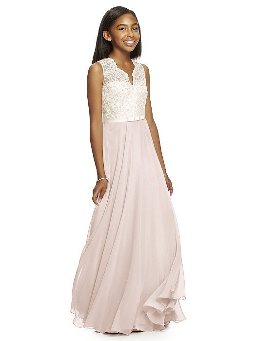 Dessy Collection Junior Bridesmaid JR532 (shown in blush)