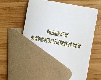 Sobriety Anniversary Card. Sobriety gift sobriety card aa