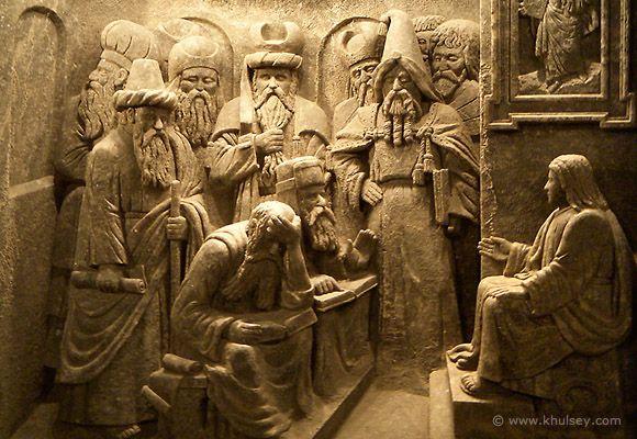 http://www.forvo.com/user/gorniak/ Salt-Rock Carving Wieliczka Salt Mine