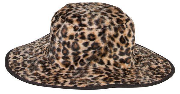 Leopard Print all year round brimmed Hat