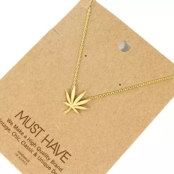 Marijuana Necklace High quality gold or silver or diamond weed leaf necklace. Hand crafted piece. Accessories
