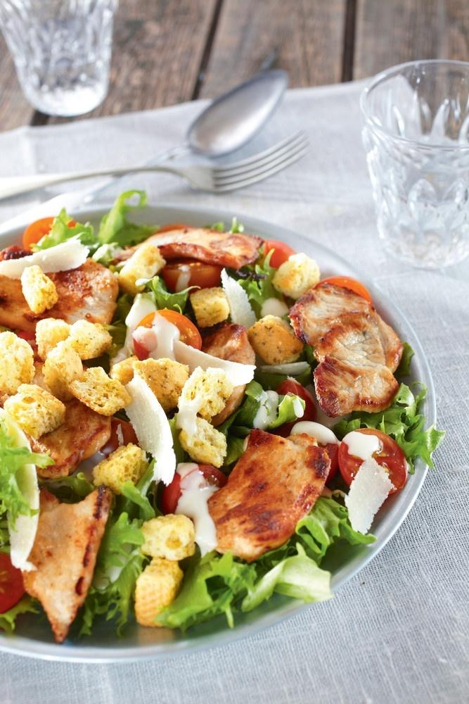Caesarsalaatti porsaanfileestä | K-ruoka