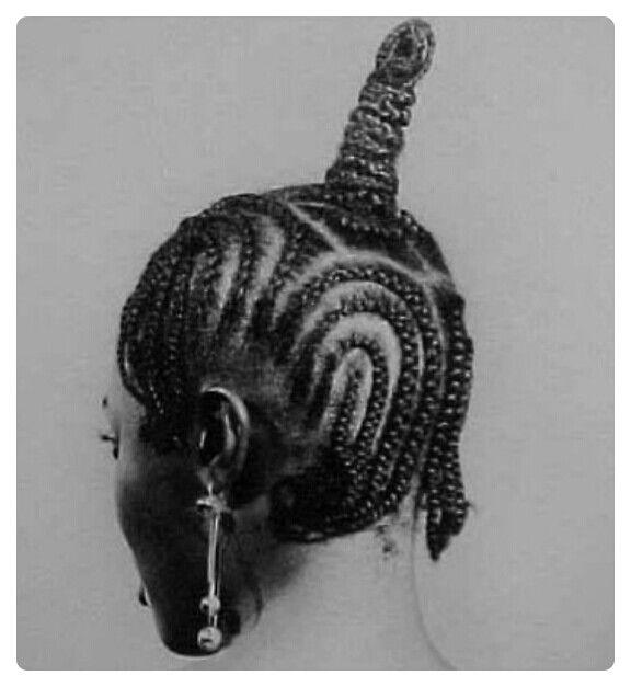 Weaved Nigerian hair style | Photo by J. D. 'Okhai Ojeikere