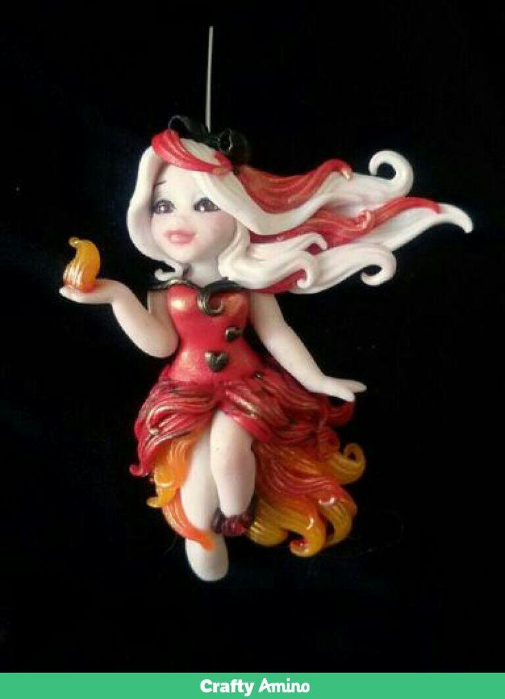 Necklace fire fairy
