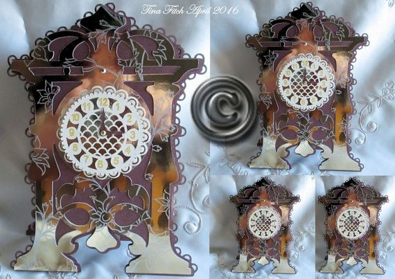 3D Fancy Clock and Box  Cutting File by forevermemoriesforyo