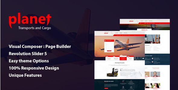 Planet – Logistics Shipping Company WordPress Theme - Business Corporate