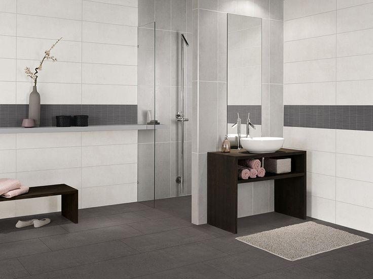 Die besten 25+ Badezimmer grau weiß Ideen auf Pinterest weiße - badezimmer anthrazit weis fliesen