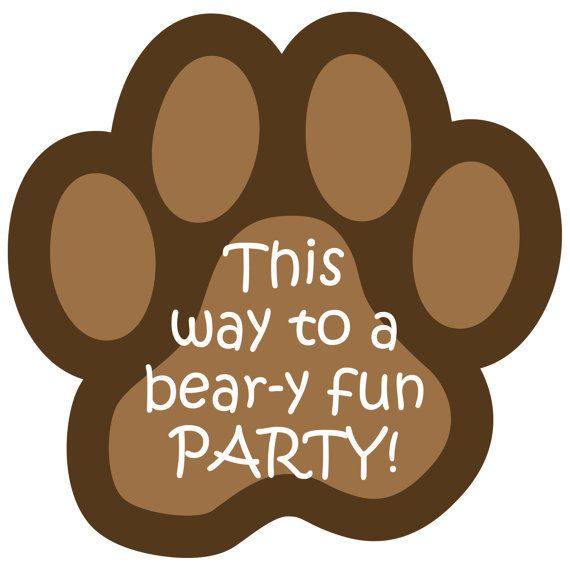 teddy bear paw print clip art - photo #34