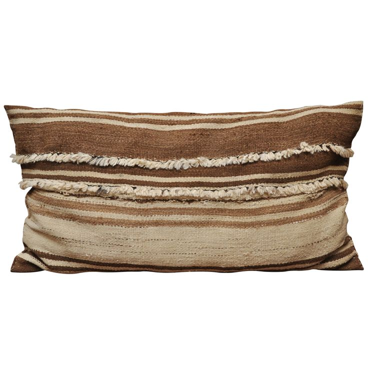 Oversized Berber Pillow | From a unique collection of antique and modern pillows and throws at www.1stdibs.com/...