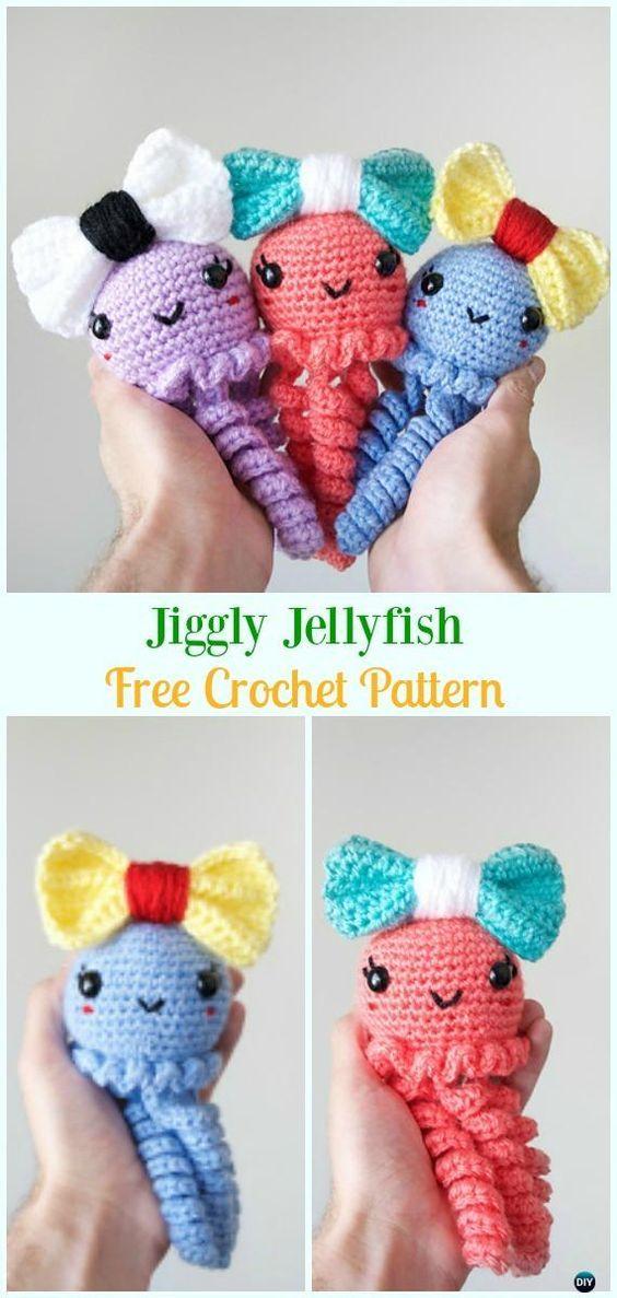 37+ Pretty Image of Crochet Jellyfish Pattern Free | Szydełkowe ... | 1187x564