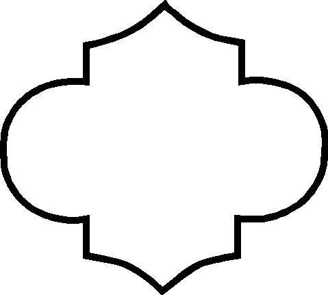 Quatrefoil single design outline decals 5 x 4.5 quantity ...