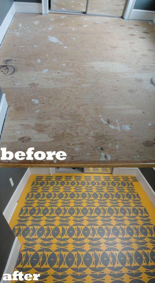 Tons of creative flooring ideas  DIY Tutorials for Your
