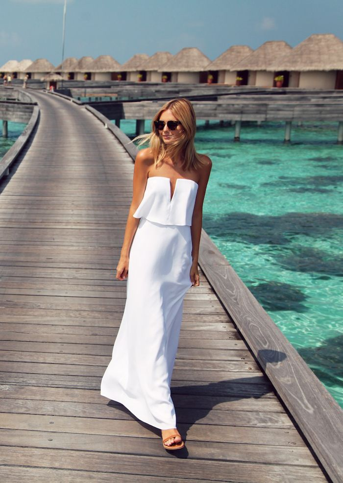 White strapless dress - tuula.