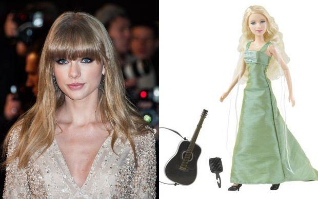 Essa boneca da Taylor Swift só tem uma coisa parecida com ela: o violão! :P