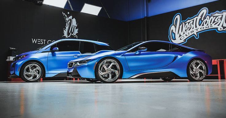 West Coast Customs Makes BMW i3 And i8 Duo Look Like Spaceships #BMW #BMW_i3