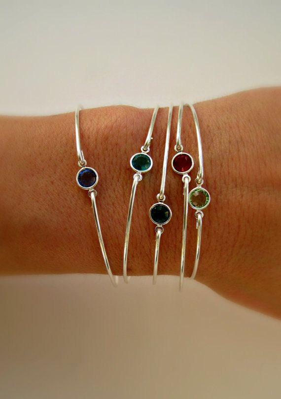 Birthstone Bracelet Bangle