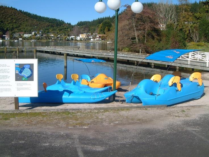 Paddle Boats & Playground at Amora Lake Resort Okawa Bay, Rotorua  New Zealand