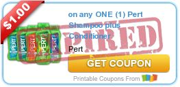 Tri Cities On A Dime: SAVE $1.00 ON PERT SHAMPOO PLUS CONDITIONER