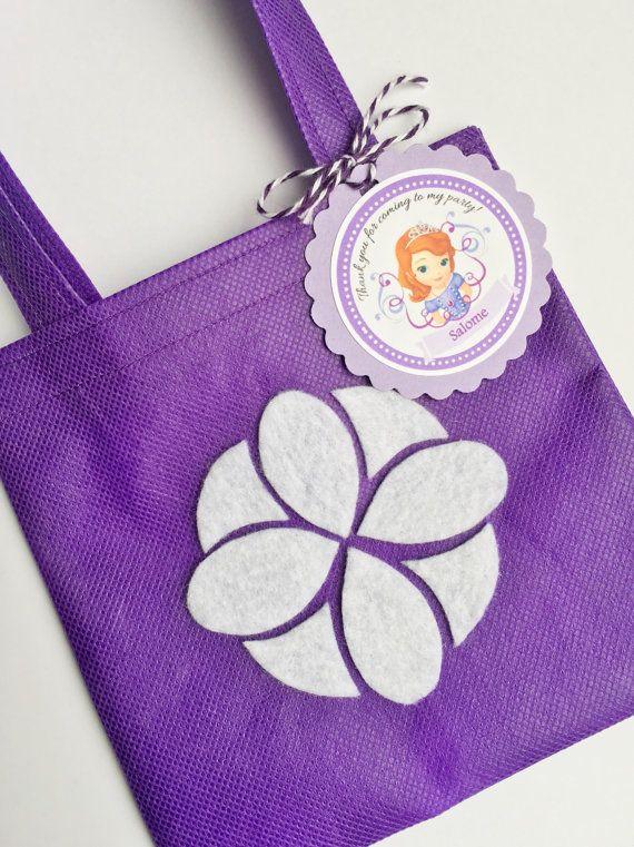 Conjunto de 12 Sofía la primera bolsa de Favor con etiquetas