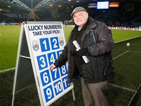 Buy a Huddersfield Town Golden Gamble ticket at the Nottingham Forest game and you could be going home with 6000!