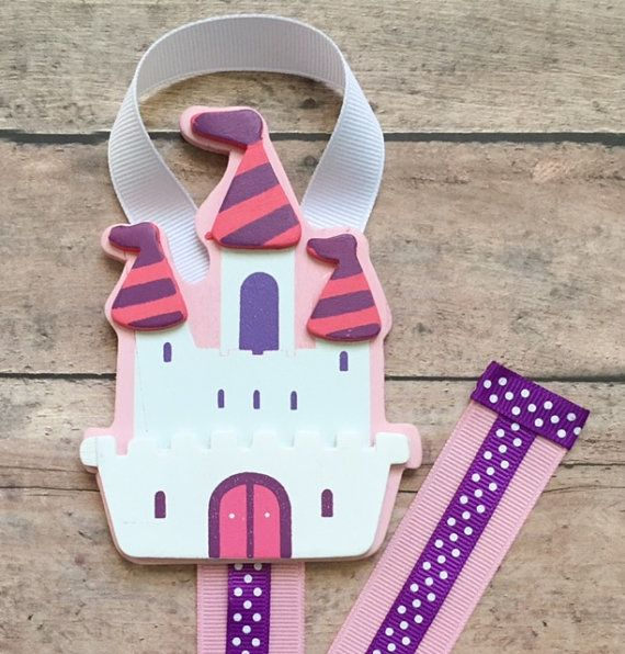 Princess Castle Hair Bow Holder, Pink and Purple Castle Hair Clip Organizer, Hair Bow Holder, Hair Clip Organizer, Hair Bow Storage