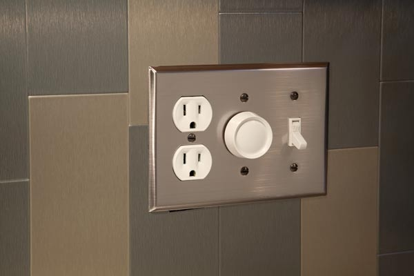 aspect outlet covers to match stainless steel backsplash