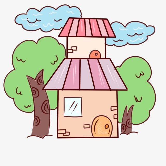 Pretty House Cartoon House House Clipart House Beautiful Png Transparent Clipart Image And Psd File For Free Download Cartoon House House Cartoon House Logo Design