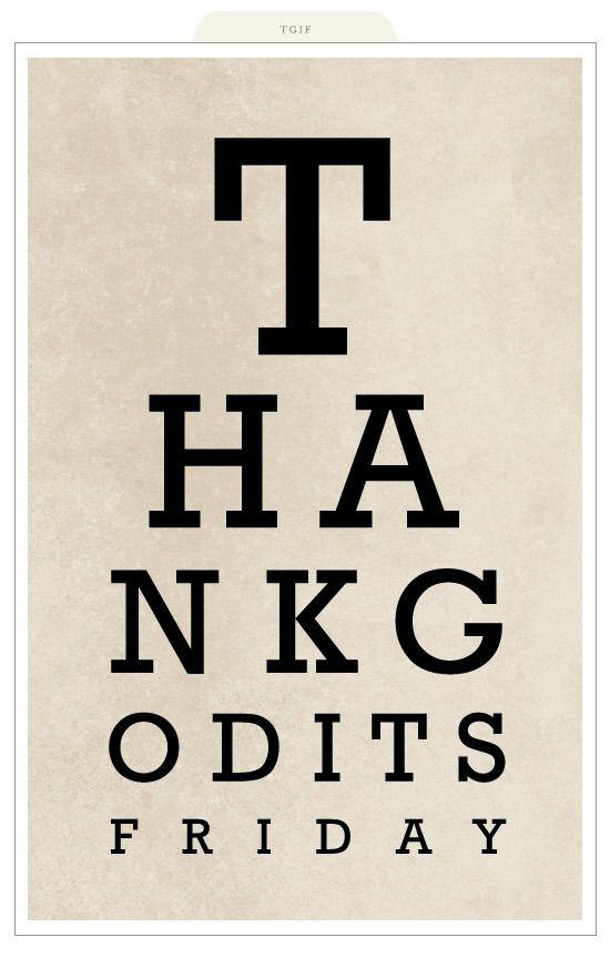 TGIF Optometrist Style | A Little Bit Funny