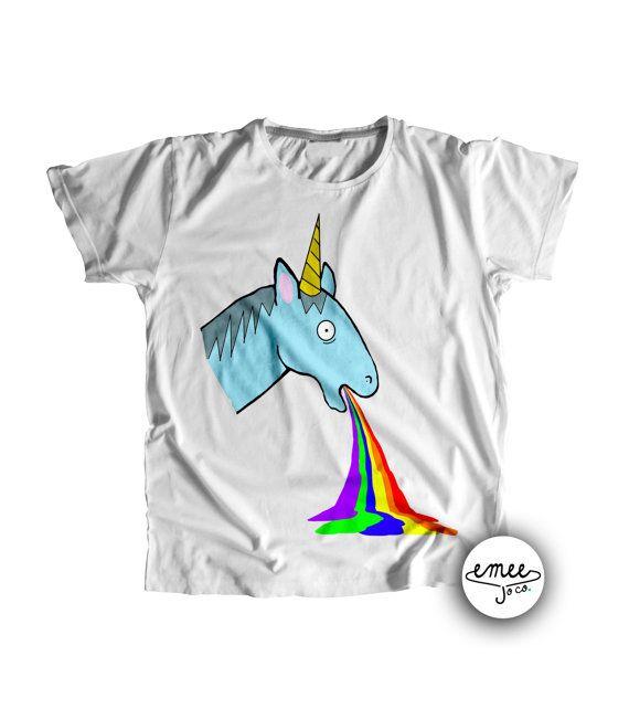 Unicorn Puking Rainbow Unicorn Baby Shower Funny Baby by EmeeJoCo