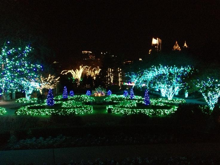 Atlanta Botanical Gardens light show ) Atlanta
