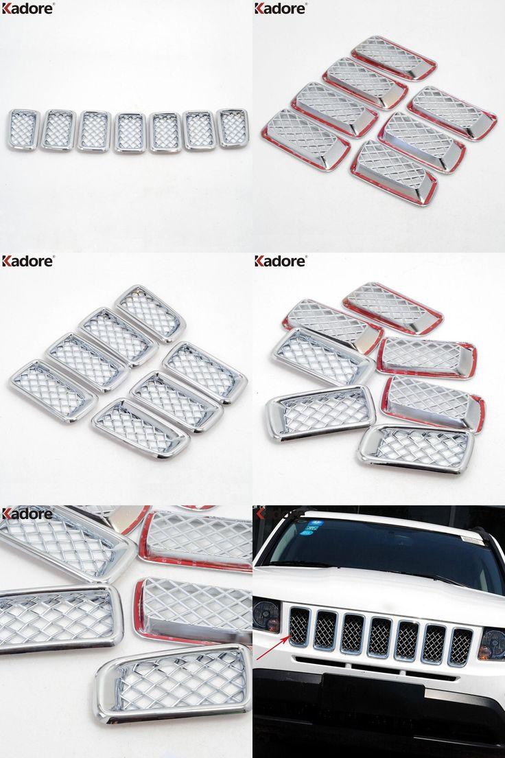 visit to buy car front center grilles covers trim radiator shield decorative frames 7pcs
