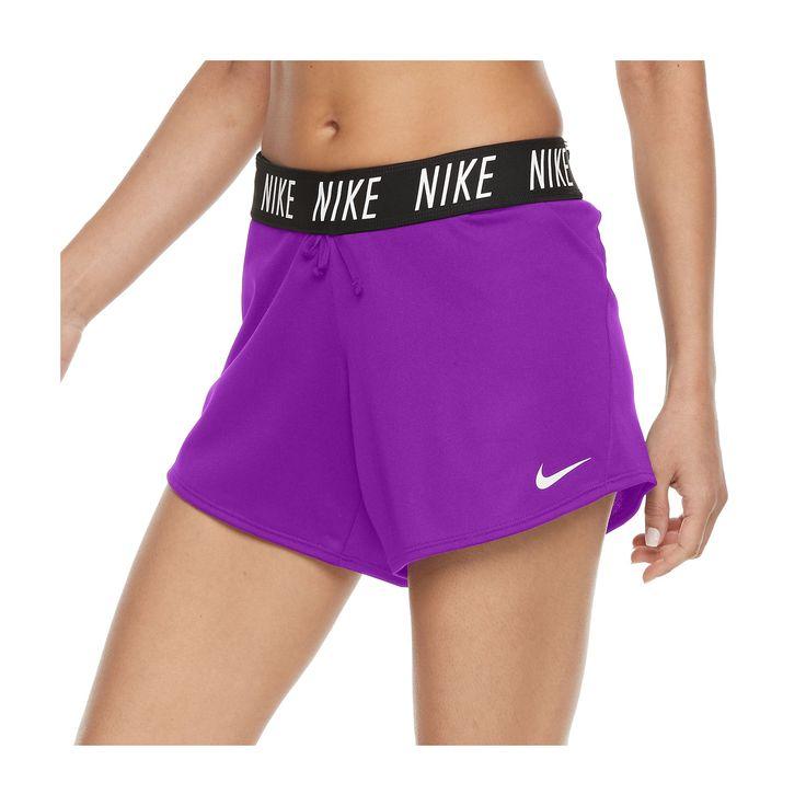 Women's Nike Dry Training Fold Over Shorts, Size: Medium, Purple Oth