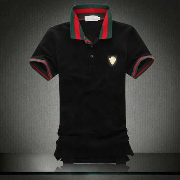 gucci polo shirt. ralph lauren online outlet gucci metal logo striped collar short sleeve men\u0027s polo shirt black http 7