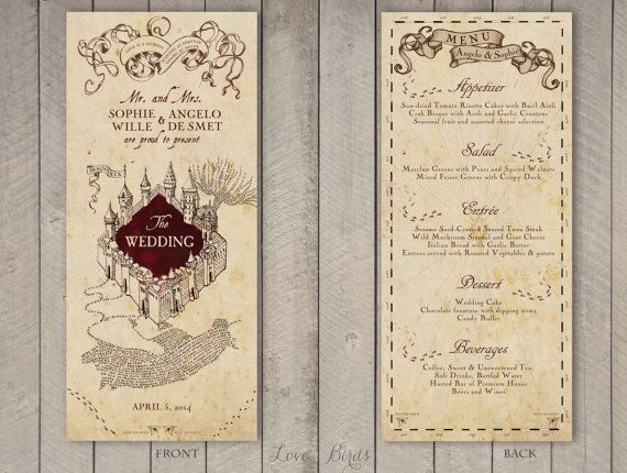 ♥ YOU ARE GETTING MARRIED! Are you a true Harry Potter fan and looking for something truly unique and magical? Then this is definitely something