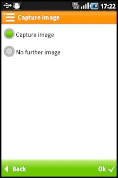 Screenshot de ejemplo con la función captura de imágenes desde un dispositivo móvil en SAP IS-U construido con la mobile enterprise application platform Movilizer.