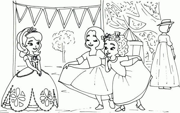 Coloreaza Plansa de colorat printesa sofia intai la petrecere cu fetele #plansedecolorat #coloringpages #kids #kidscoloringpages #copiisimamici #sofia #princesssofia #sofiathefirst