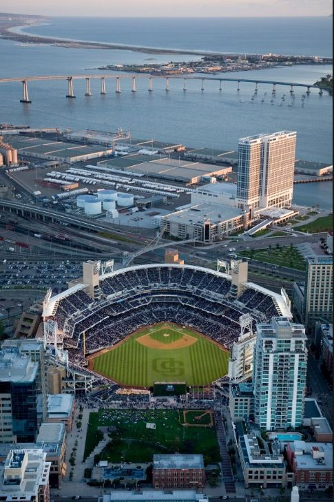 Petco Park-Home Of The San Diego Padres.  I went to my first and only professional baseball game here.