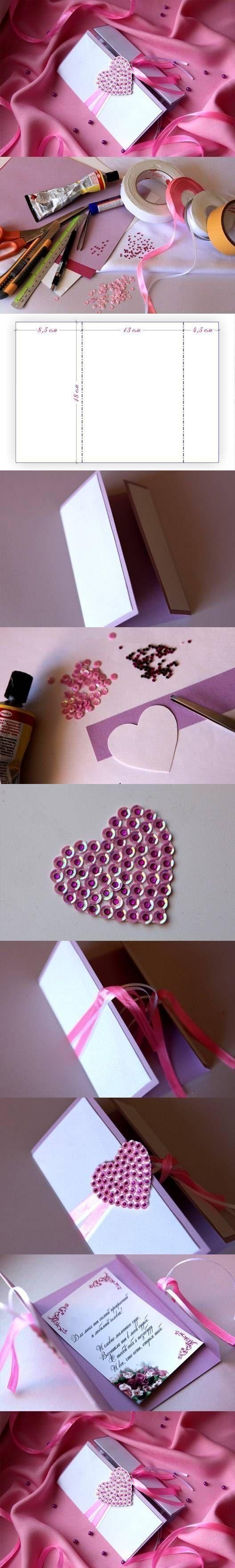 Creativa tarjeta para los enamorados: