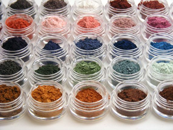 Mineral Eye Shadow Samples 10 for 10 (Aqua, Coconut, Coral, Lush, Sahara, Storm Brown, Blackberry Jam, Budding, Sable, Wine Oh!)