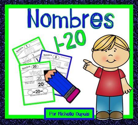 Pages prêtes à imprimer pour la pratique des nombres 1-20.