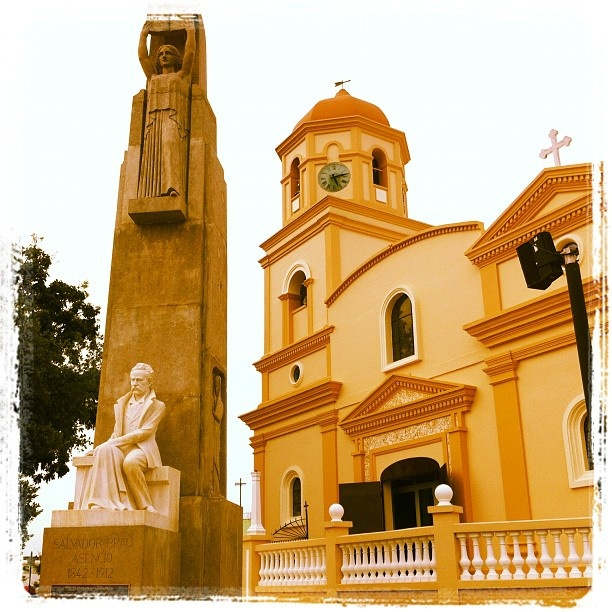 Cabo Rojo Plaza, Monument to Dr. Salvador Brau Asencio (1842 – 1912) was a journalist, poet, writer and renowned historian from Puerto Rico.