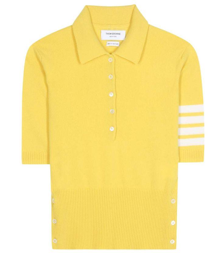 THOM BROWNE Cashmere Polo Shirt. #thombrowne #cloth #shirt