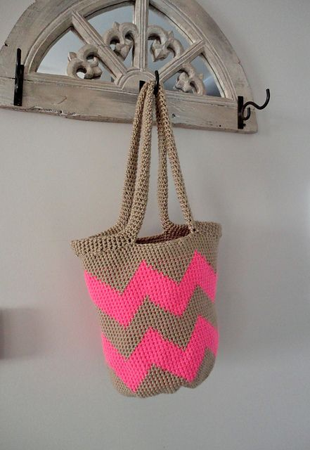 Ravelry: kittinkilgore's Chevron Tote Bag