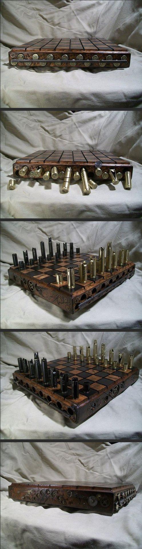 Just A Badass Handmade Chess Set…